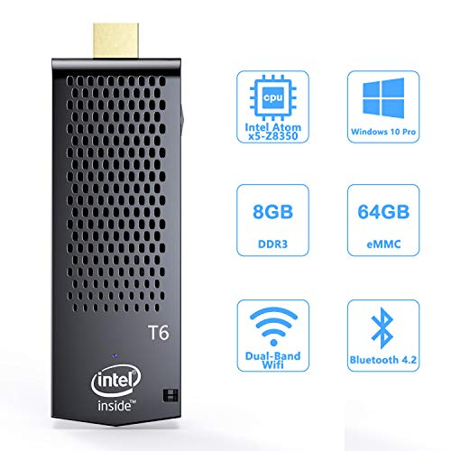 Mini Computer Stick with Intel Atom x5-Z8350 & Pre-Installed Windows 10 Pro,8GB DDR3 64GB eMMC Micro PC Support 4K HD,Bluetooth 4.2 and WiFi 2.4G/5G