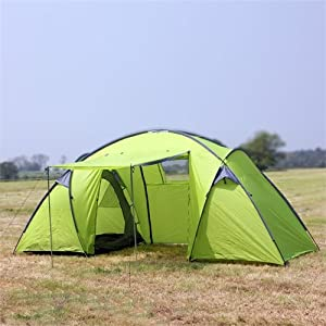 North Gear Camping Trekker Waterproof 6 Man 2 Room Tent