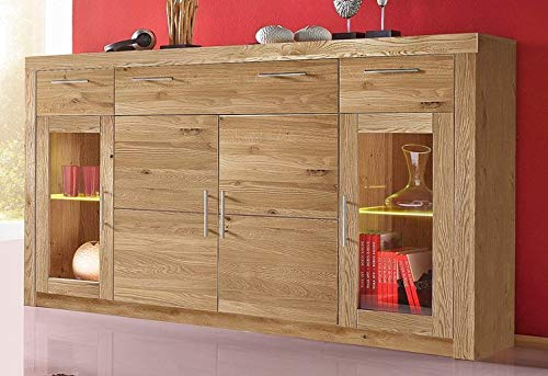 Preisvergleich Produktbild Möbeldesign Team 2000 Highboard Anrichte Kommode Sideboard wildeiche teilmassiv,  geölt 3442-13