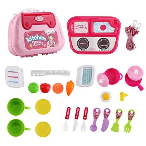 YLLN Los niños simulan Jugar Juguetes Bolso de Hombro médico/Juego de Cocina Juguete Educativo para niños pequeños niñas niños (B)