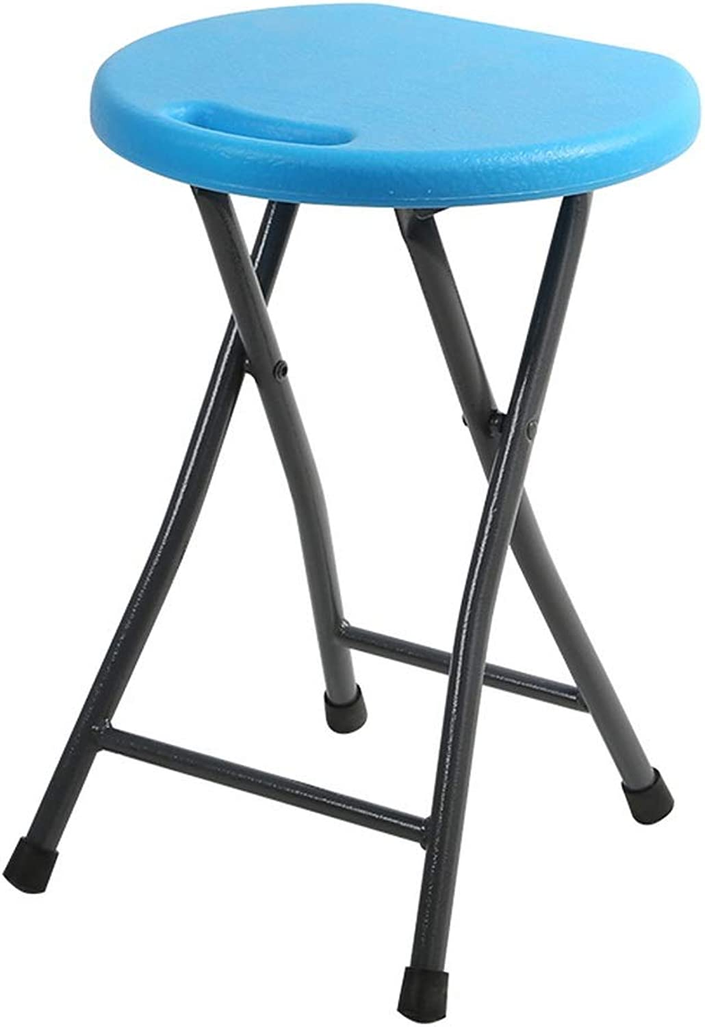 Shower Seat, bluee Portable Folding Round Shower Stool Elderly Disabled Pregnant Women Home Simple Stool