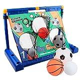 3 in 1 Portería de Fútbol Eléctrica para Niños Soccer Goal Net con Baloncesto, Fútbol y Béisbol Equipo de Entrenamiento de fútbol para Jardín Al Aire Libre Y Juguete Interior