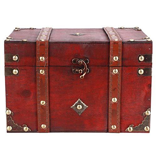 Caja de madera Caja de almacenamiento de madera retro Caja de joyería, Caja de accesorios de fotos antigua Decoración Adornos para el hogar Regalos creativos, para mujeres Tienda de joyas o colección