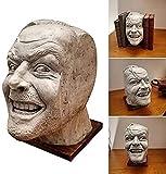 QKFON Sculpture Of The Shining Bookend Library Here?s Johnny Sculpture Resina Escritorio Ornamento L...