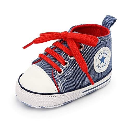 Auxma Niedlich Kind Baby Säugling Junge Mädchen weiche Sohle Kleinkind Schuhe Leinwand Sneak (0-6 Monat, YYC)