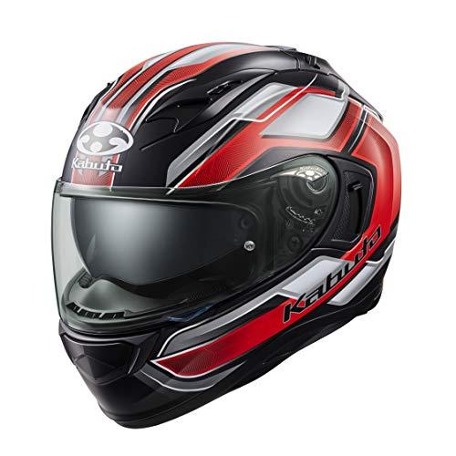 オージーケーカブト(OGK KABUTO)バイクヘルメット フルフェイス KAMUI3 ACCEL(アクセル) フラットブラックレッド (サイズ:XL) 585853
