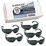 48 Pack of Tinted Safety Glasses (48 Protective Shaded Safety Goggles) UV Resistant Eye Protection - Perfect for Construction, Shooting, Lab Work, and More!
