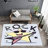 ydlcxst Alfombra Cool Stars Alfombra De Guitarra Alfombra De Piso De Dormitorio Alfombra De Impresión 3D para Sala De Estar 120X160Cm