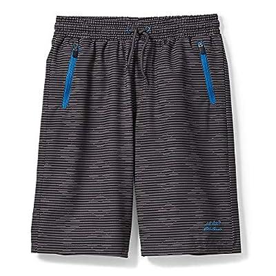 Eddie Bauer Boys Quick Dry Performance Shorts | Grey, Large