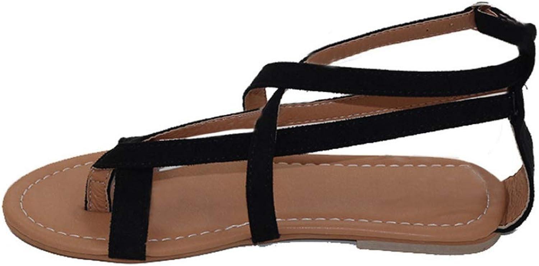 JOYBI Women's Flat Sandals T-Strap Roman Style Zipper Fashion Spring Summer Women shoes Casual Flip Flops