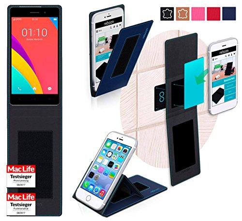 Hülle für Oppo R5s Tasche Cover Hülle Bumper | Blau | Testsieger