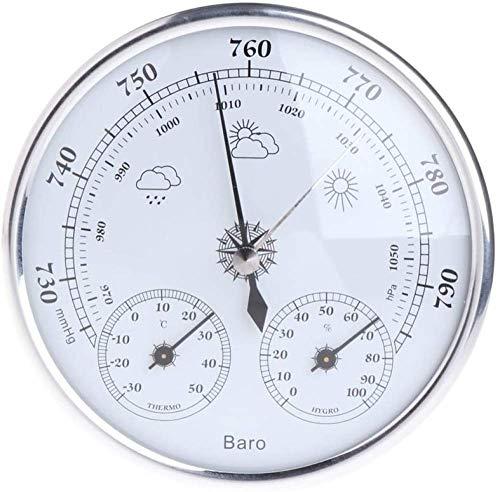 Estación Meteorológica Doméstica Multifunción 3 En 1 Con Barómetro, Termómetro E Higrómetro. Medidor De Temperatura, Humedad Y Presión Atmosférica Para Colgar En La Pared