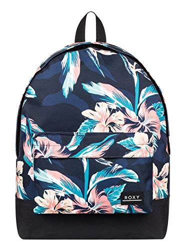 Roxy Sugar Baby 16L-Sac à Dos Moyenne Femme, Anthracite tropicoco s, FR Unique (Taille Fabricant : 1SZ)
