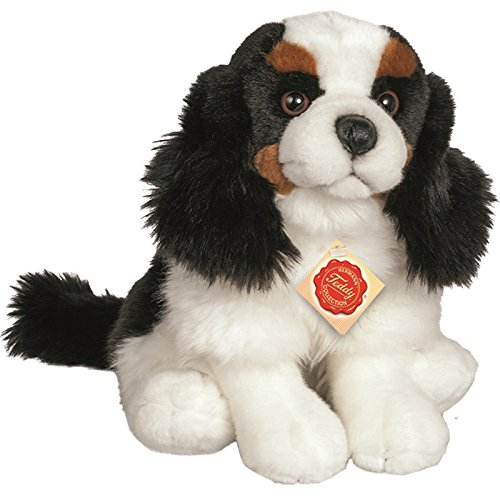 Teddy Hermann 91918 Hund Charles Spaniel sitzend 25 cm, Kuscheltier, Plüschtier