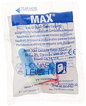 Howard Leight by Honeywell MAX USA Disposable Foam Earplugs 200-Pairs  MAX1-USA ,Red White Blue