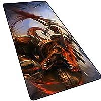 特大ゲーム用マウスパッド、厚型滑り止めデスクマット、esportゲーム用コンピュータキーボードパッド、Warcraft/League of Legends-18-80x30