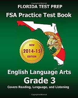 FLORIDA TEST PREP FSA Practice Test Book English Language Arts Grade 3: Covers Reading, Language, and Listening by Test Master Press Florida (2014-09-06) Paperback