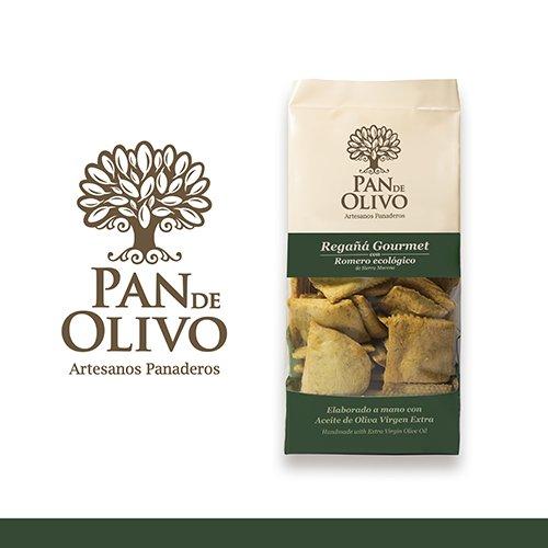 Regañá gourmet, PAN DE OLIVO, producto artesanal, elaborado a mano con aceite de oliva virgen extra. (PACK 4 Unidades). Varios sabores. Envío GRATIS 24 h. (Romero ecológico)