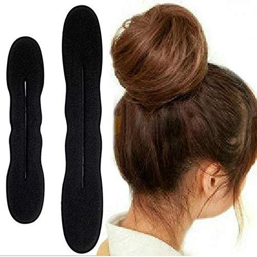 LWBTOSEE 2 x Haar-Stylingschwamm mit Clip, aus Schaumstoff, für Dutt