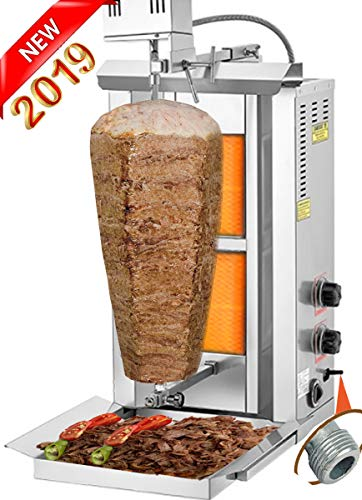 TurcoBazaar 110v 220v Automatic Kebab Machine Doner Kebab Grill Machine 2 Stove Propane