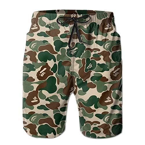 Kay Sam Aniaml Bape Camouflage Green Herren Quick Dry Beach Board Shorts Sommer Badehose