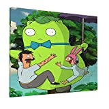 DEKEDE Bob Burgers Canvas Painting Bedroom Home Decoration Creative Decoration Painting Wall Art Decoration 16x20inch Frameless