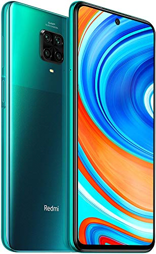 "Xiaomi Redmi Note 9 Pro Smartphone - 6.67"" DotDisplay 6GB 128GB 64MP AI Quad Caméra 5020mAh (typ) NFC Vert [Version Globale], Tropical Green"