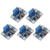 WINGONEER SX1308 DC Voltage Regulator Step Up Boost Converter Power Supply Module 2-24V to 2-28V 2A - 5PCS