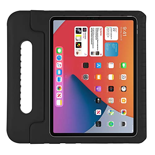 Kavon Funda para iPad Air 4 10.9 Pulgadas 2020 4th Gen/iPad Pro 11 Pulgadas 2018,Soporte de Mango Convertible a Prueba de Golpes EVA, Cubierta Protectora para Tableta Ligera para Niños (Negro)