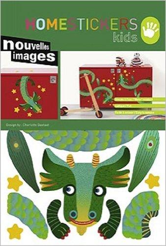 Nouvelles Images Stickers Meubles Enfant * Dragon Vert * 2 Planches ADHESIFS Deco Meubles