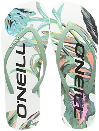 ONeill dam profil grafiska sandaler flip-flop, vit - 39 EU