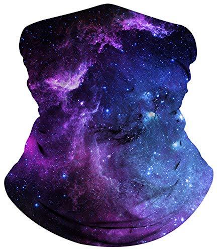 SunFocus Galaxy Druck Halstuch Nahtlose Multifunktionstuch Kopfbedeckung Bandana Schlauchtuch Elastischer Stirnband Gesichtsbedeckung Mundschutz