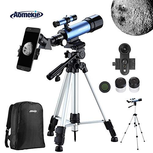 Aomekie Telescopio Astronomico Niños Trípode Adaptador