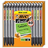 BIC Xtra-Smooth Mechanical Pencil, Medium Point (0.7 mm), 40-Count , Black