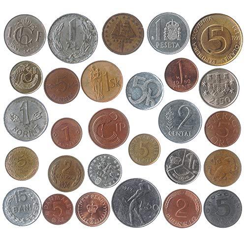 Lote De 28 Monedas Diferentes De Cada País De La Unión Europea...
