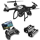 GPS FPV RC Drone with Camera Live Video and GPS Return Home Quadcopter with Adjustable Wide-Angle 720P HD WiFi Camera- Follow Me, Altitude Hold, Intelligent Battery Long Control Range by Super Joy