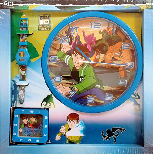 Ben10 Alien Force Wanduhr, Watch & Wecker Set Uhr CN Carton Network