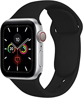 Compatible with Apple Watch Band 40mm 38mm,Soft Silicone Fitness Replacement Accessories Straps Wristbands for iWatch Band...