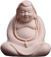 Buddha Statue Decoration Car Decoration Buddha Statue Ceramic Laughing Buddha Statue Ornaments Lucky Maitreya Buddha Sculp...