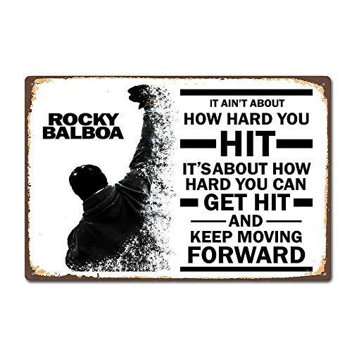 Taco Thursday Rocky Balboa Moive Pintura de Hierro Cartel de Metal Vintage Cartel de Chapa Cartel de Pared Placa para hogar Dormitorio Garaje Dormitorio Cafetería