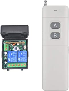 dc 12v Wireless Remote Control Switch 2-Channel Remote Control 2000 Meters Long Distance dc Access Control Remote Control Switch Farm Agriculture Switch Relay Output Water Pump Motor Lighting