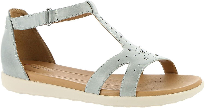 CLARKS Un Reisel Mara Women's Sandal 7 C D US bluee-Grey