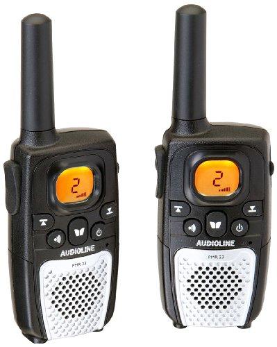 Audioline PMR 23 Funkgerät-Set mit LCD-Display (8 Kanäle, Gürtelclip, Tastensperre)