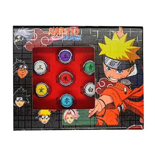 I3C 10 pièces Naruto Anneaux Anime Bague Accessoires de Cosplay Organisation Akatsuki Nouveau pour Homme Femme Enfant