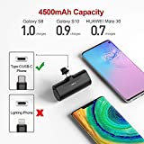 iWALK USB C Power Bank, 4500mAh Portable Charger USB C Battery Pack, Compatible with Samsung Galaxy Note20 Ultra, Z Fold2, S20/S10/S9, A51/A71, Note 10/9/8 and Android-Smartphones, black