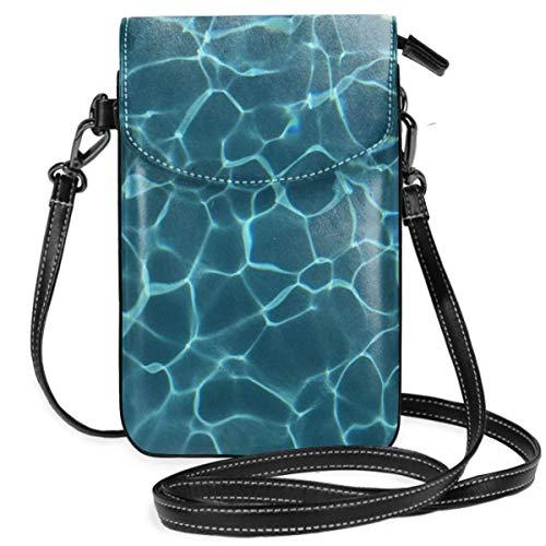 NA Handytasche Geldbörse - Damen kleine Pool Wasser Tumblr Textur Crossbody Bag Handtasche