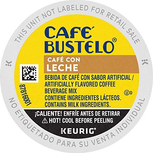 Café Bustelo Café con Leche Flavored Espresso Style Coffee, 60 Keurig K-Cup Pods