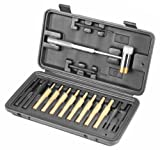 Wheeler Engineering Hammer and Punch Set with Brass, Steel, Plastic Punches, Brass/Polymer Hammer and Storage Case for Gunsmithing Maintenance