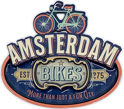 Matix Imán Amsterdam bicicleta MDF azul