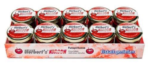 Original Herbert´s Freche Früchtchen - Kirsch - Likör mit einer Frucht (10x 0,02L 17% Vol.)